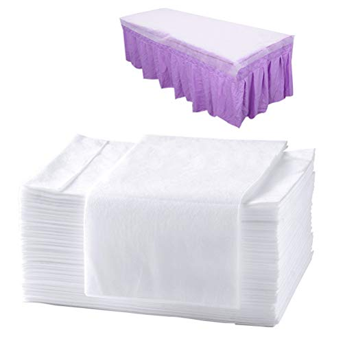 Pengxiaomei 20pcs 28×67Inch,Disposable Massage Table Sheet for Spa,Disposable Bed Sheets Waterproof Bed Cover Non-Woven Bed Sheet,Spa Bed Sheets for Tattoo