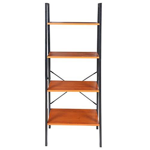 Oumefar , Soporte para Libros, Estantería, Operación Simple Estantes Abiertos de 4 Niveles Estantería Multifuncional con Escalera, Muebles para el hogar para Sala de Estar