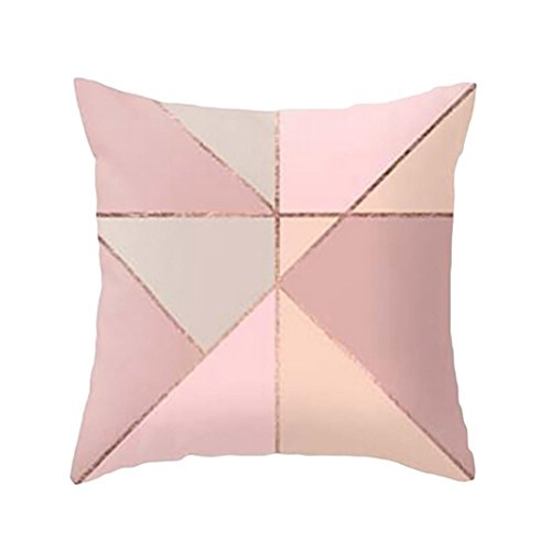 Kissenbezug Kissenhülle 45x45 cm Ronamick Geometrische Marmor Textur Square Throw Kissenbezug Sofa Bett Home Decorative Weich (1)
