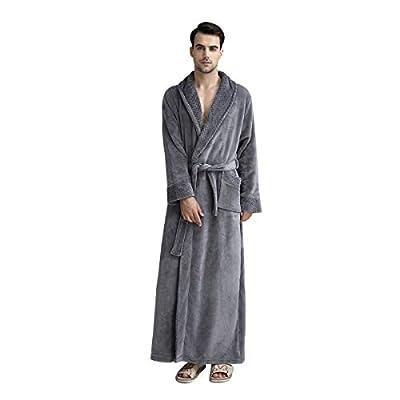 DoMii Womens Long Thick Fleece Robe Soft Spa Plush Full Length Velvet Bathrobe Sleepwear Nightgown