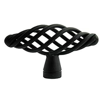 """New Matte Black  Birdcage Kitchen Bathroom Cabinet Knob 1 3//8/"""" 35mm"""