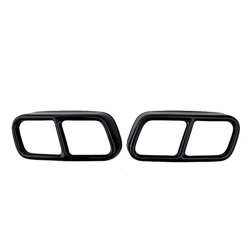 HUANHUAN Department Store 1 par de Escape Negro silenciador Tapa Tapa Tapa de Acero Inoxidable Ajuste para BMW 7 Series F01 F02 F04 2009 2010 2011 2012 2013 2014 2014