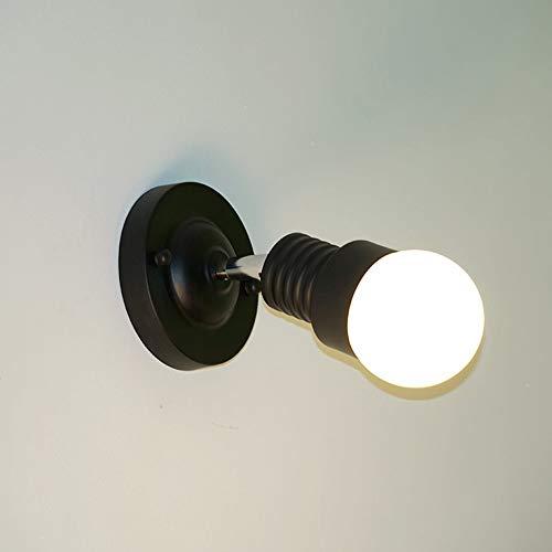 Hancoc País Estadounidense Lámpara De Pared De Hierro Forjado Creativo Lámpara De Pared De Hierro Forjado LED Sacudiendo La Cabeza Lámpara De Succión 5W Luz Cálida Negro
