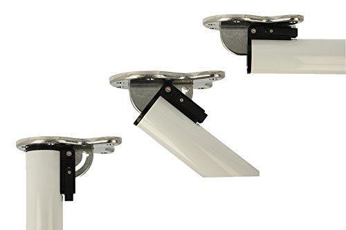 MS Beschläge® abklappbares Tischbein Möbelfuss Tischfuss 710mm (Weiss)