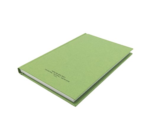 DIY Indispensables US Military Log Record Book 5.25 x 8 Inch 96 Sheets with Rugged Sewn Case Binding Blue Line College Ruled Notebook NSN 7530002223521, Made in USA