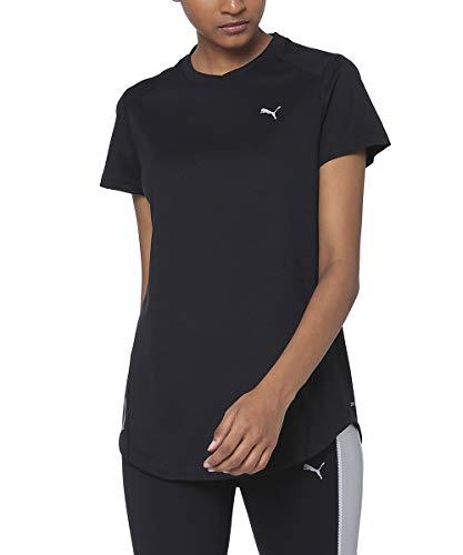 PUMA Damen Ignite Ss Black T-Shirt, Negro, Medium