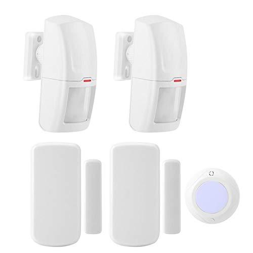 Sirena de Alarma de Seguridad Alarma de Seguridad magnética Luz estroboscópica LED incorporada Frecuencia de 433 MHz Utilizada para Mejorar la Seguridad del hogar