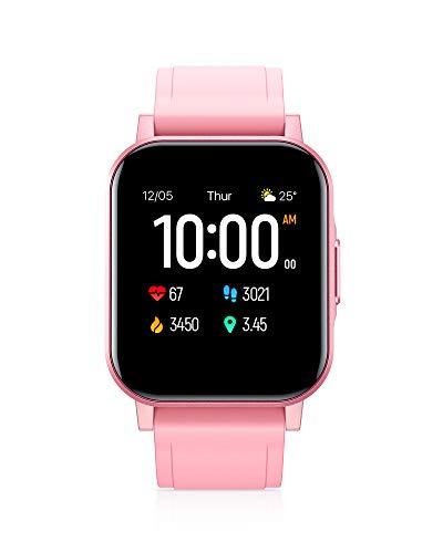 AUKEY Smartwatch Donna, 1,4   Full Touch 320p Schermo Orologio Fitness Activity Tracker, Impermeabil IP68, Cardiofrequenzimetro, Cronometro Contapassi, Notifiche Messaggi, Controllo della Musica, Rosa