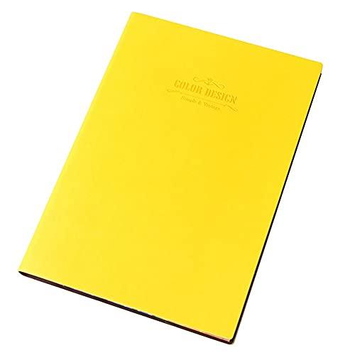 LICHUAN Notebook Sofeboad Soft Bloc de Cuero Espesamiento Trabajo Reunión Hombres y Mujeres Office Record Book 112 Páginas Journal for School Home & Office (Color : Yellow)