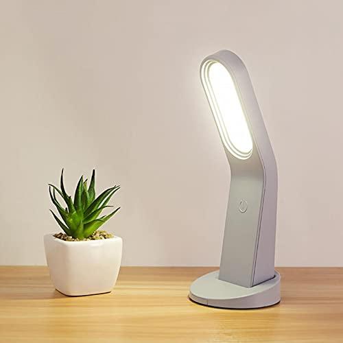 GeKLok Lámpara de escritorio inalámbrica, LED recargable de noche, lámpara magnética con brillo ajustable, lámparas de mesa de control táctil para dormitorio de niños, baño, armario, pasillo