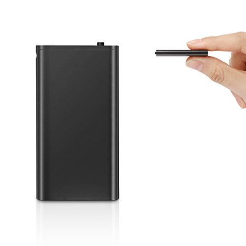 QZT - Mini registratore vocale, 8 GB, 5 ore di registrazione, riconoscimento vocale, registrazione One Touch, piccolo dispositivo di registrazione audio per la registrazione vocale