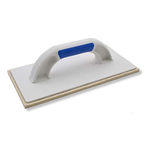 DEWEPRO® Filzbrett - Kunststoff (PS) Reibebrett mit 6mm Filzbelag für Putz u. Feinputz - 280x140mm - Filzreiber - Putzreiber - Maurerfilz
