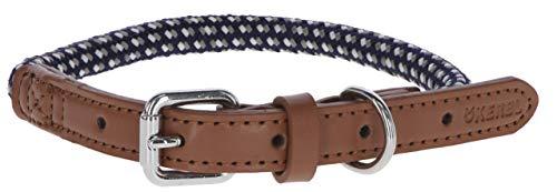 Kerbl Hundehalsband Phoenix, Halsband Hund Kleine Mittlere Große Hunde, Blau (14mm / 45-65 cm)