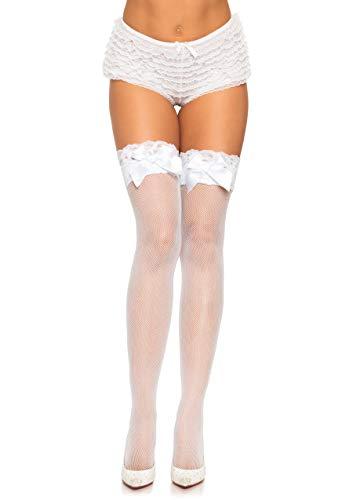 LEG AVENUE Damen Strumpfhose-6261 Strumpfhose, White, One Size