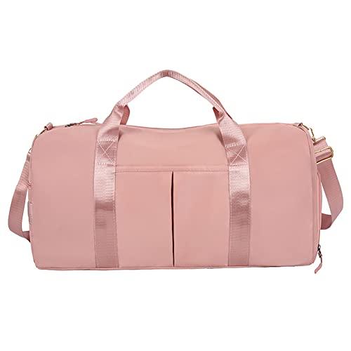 Bolsa de deporte de separación seca y húmeda bolsa de viaje de corta distancia bolsa de zapatos almacén bolsa de lona bolso de lona rosa