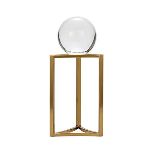 YAOLUU Bolas Decorativas Crystal Ball 3D, Decorativo Bola de Cristal con un Stand, Home Office Decor, Grandes Regalos con Caja de Regalo Bola de Cristal Natural (Size : Large)