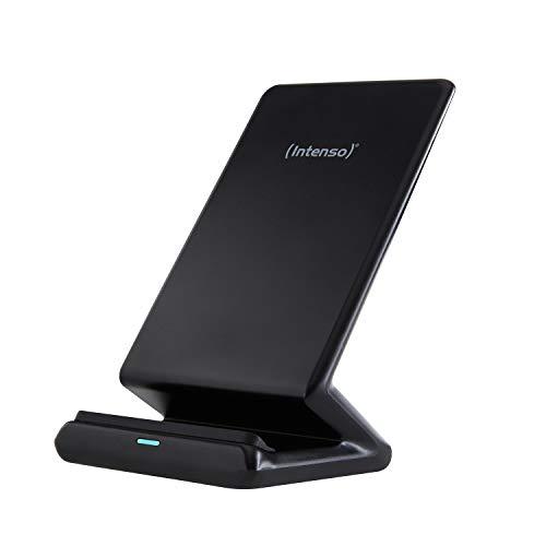 Intenso BSA1 Wireless Charger I 7,5 & 10W Schnelllademodus I kabellose induktive Ladestation I Qi-Zertifiziert I Kompatibel mit iPhone, Samsung und mehr