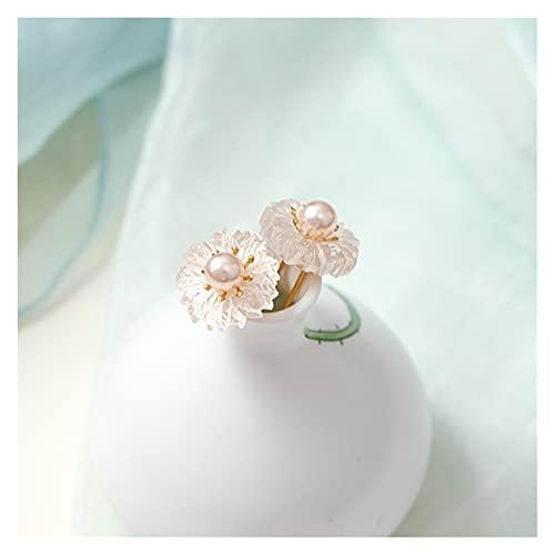 Horquilla China 3 unids U Forma U Pelo Fork Sticks Flower Crystal Pearls Horquillas Clips De La Novia China Boda Cabello Joyería Accesorios (Metal Color : 13)