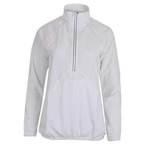 Lija Women`s Etoile Tennis Jacket ( MEDIUM White )