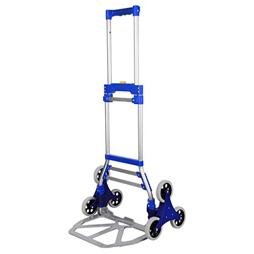WEIZI Global- Aluminum Hand Truck Folding Sack Trucks Hand Truck with 6 wheels for outdoor grocery home 70kg loading capacity