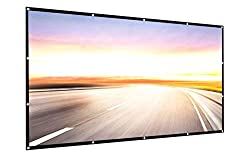 small 150 inch 16: 9 HD projection screen Foldable, foldable portable projection surface for home theater …