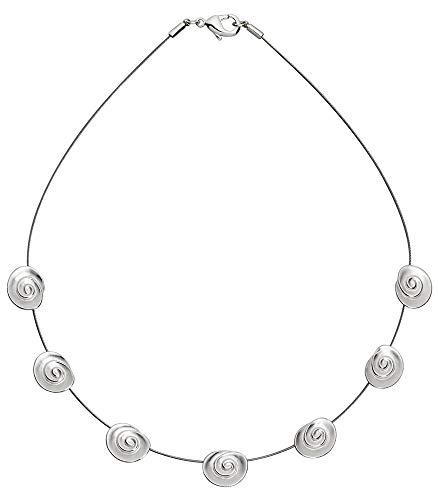 Perlkönig Collier Kette Halskette | Damen Frauen | Silber Farben | Runde 7 Rosen | Nickelabgabefrei