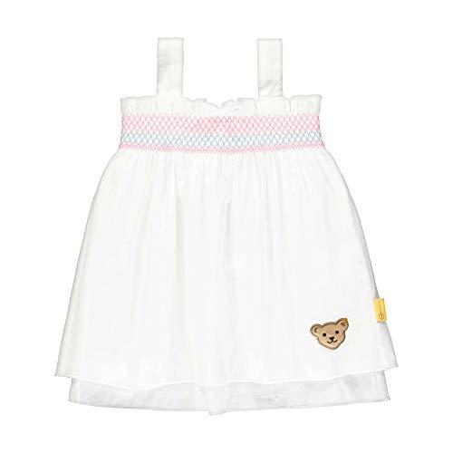 Steiff Mädchen Tunika T-Shirt, Weiß (Bright White 1000), 86 (Herstellergröße: 086)