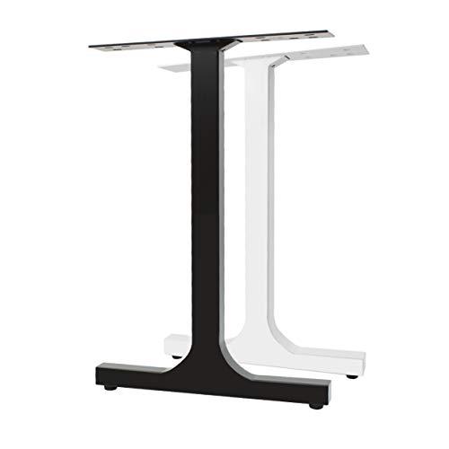 2x Natural Goods Berlin Design Tischkufen H-FORM Metall Tischbeine   Tischgestell aus Stahl   Esstisch, Schreibtisch, Tischwangen, Restauranttisch, Bistrotisch (B50 x H72 cm, Weiß)