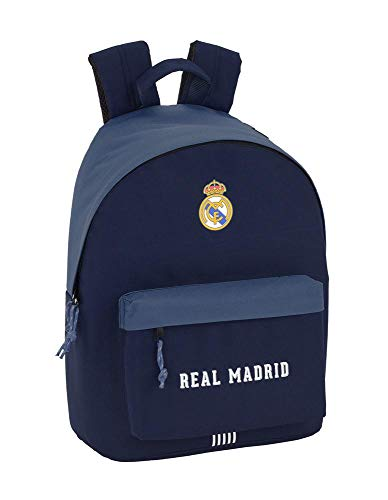 Safta Real Madrid Mochila Escolar, 41 cm, Azul