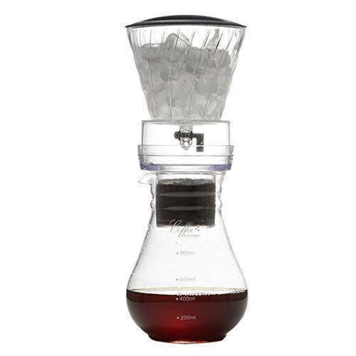 TEBI 600ml Reutilizable Filtro de Filtro de Café de Hielo Herramientas de Vidrio Percolator Espresso Café Gotero Pot Hielo Brew Cafetera