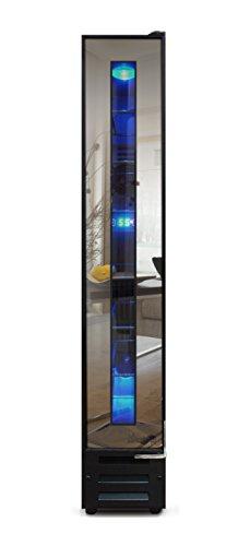 Vinotemp VT-7BMSL-FE 7-Bottle Mirrored Refrigerator, Wine Cooler, One size, Black
