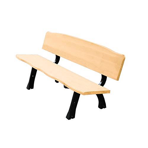 Outdoor furniture Parkbank Gartenmöbel Terrassenstuhl, 3-Sitzer Korrosionsschutz-Gartenbank aus massivem Holz, Picknickbank mit Rückenlehne Terrasse Restaurant, Kann eine Last von 1000 Pfund tragen