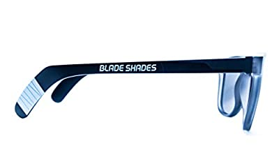 Blade Shades Sports Sunglasses, Original Hockey Stick 100% UV Protection Sunglasses for Men, Women, Kids (Grey/Smoke Frame, Chrome Mirror)