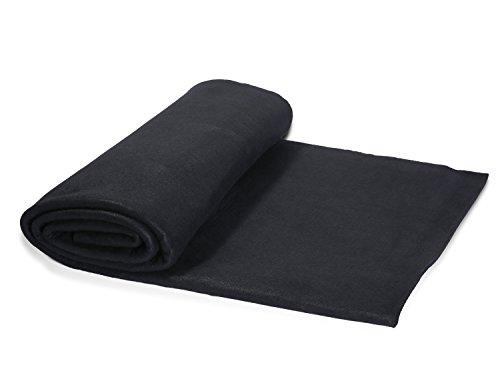 HANSWAY High Temp 36''X36''X1/4'' Felt Carbon Fiber Welding Blankets Black (3 x 3 feets)