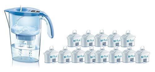 Laica J9074A1 kit 13 filtri bi-flux e caraffa filtrante, 2.3 Litri totali, 1.2 Litri filtrati