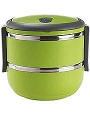 صندوق طعام مزدوج الطبقات من رويال فورد، اخضر، RF-4673
