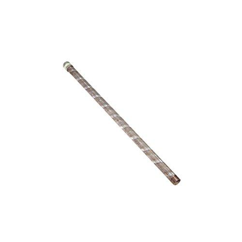 Xclou Pumpenrohr verzinkt mit Muffe für den Brunnen am Haus & im Garten - R32 mm, 100 cm - Zubehör für Brunnenbau & Pumpe -  Länge 1m, Wandstärke 3mm