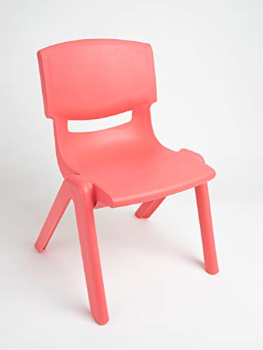 sedia bieco 04000005 per bambini da impilabile in plastica ca. 53 x 33 x 28 cm, rosso