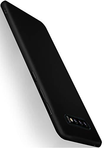 moex Alpha Hülle für Samsung Galaxy S10 Hülle Stoßfest & Leicht Handyhülle Extra Dünn, Super Slim Schutzhülle Ultra Air Hybrid PC Hardcase aus Kunststoff - Matt Schwarz