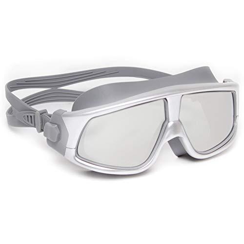 RYDZCLH Gafas de natación antiniebla, Gafas de natación de policarbonato Impermeables y Anti-UV, Unisex,Plata
