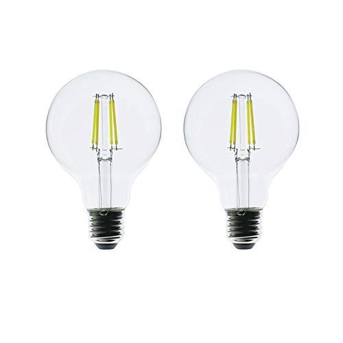 ZFQ 4W G80 E27 80mm Edison Globo Retro Bombilla LED Filamento, Luz...