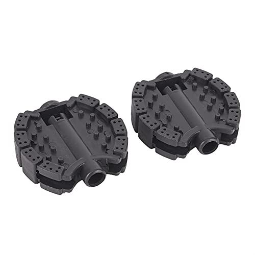 Ayughj 1 par Material de plástico del Pedal de reemplazo de Triciclo de 1 par Duradero no es fácil romperse Multi-Color Opcional 6.7cm x 6.6cm x 1.2cm (Color : Black)