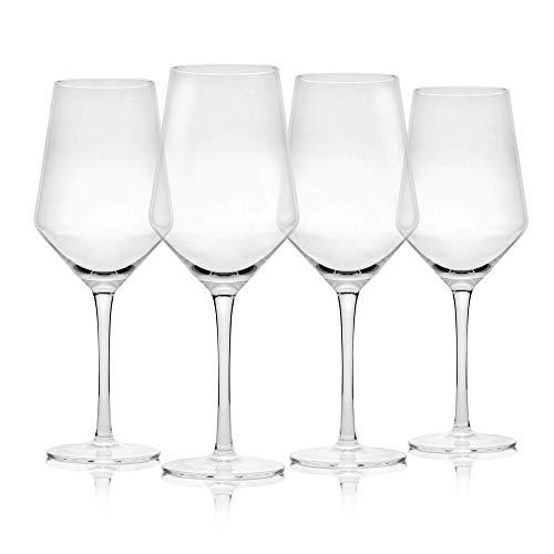 Juego de 4 copas de vino   Grandes copas de vino   Apto para lavavajillas   Copas de vino tinto tradicionales   Juego de copa de vino   M&W