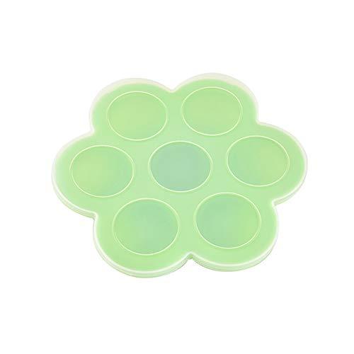 Danigrefinb Opbergdoos Silicone, 7-partij Siliconen Herbruikbare Ice Cube Vorm Opbergdoos Container Voedsel Vriezer Lade Eén maat Groen