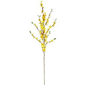 Forsythia Branches, 3 PCS Yellow Silk Flowers with Bendable Long Stem for Spring Summer Outdoor Indoor Decor