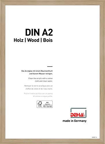 DEHA Holz Bilderrahmen Fontana, 42x59,4 cm (A2), Eiche