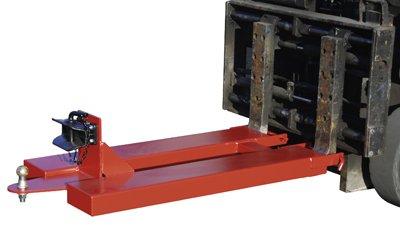 Bauer Rangierhilfe, Anhängerkupplung Rockinger + Kupplungskugel, BxTxH 680x1505x340 mm, max. Stützlast 100 kg, rot