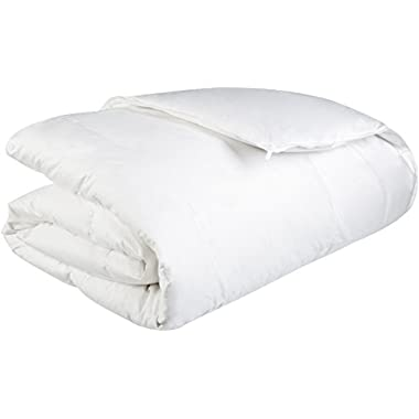 Pinzon Heavyweight Shed-Resistant White Down Comforter - Full/Queen