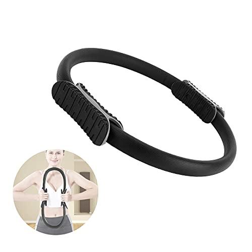 Nizirioo Anello da Pilates, Ring Pilates, Cerchio Pilates Ring Magic Circle, per Fitness a Casa Adatto, Doppio Manico per Circle Pilates - Yoga Gym Fitness Allenamento (Nero)