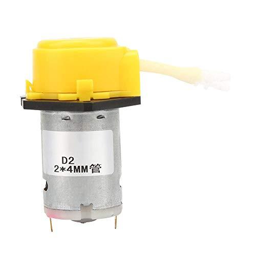Bomba peristáltica para experimentos, análisis bioquímicos, productos farmacéuticos, productos químicos finos, biotecnología, D-2 2 * 4mm DC 6V Micro Water Liquid(Amarillo)